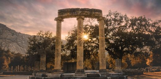Sunset-in-Ancient-Olympia-Greece